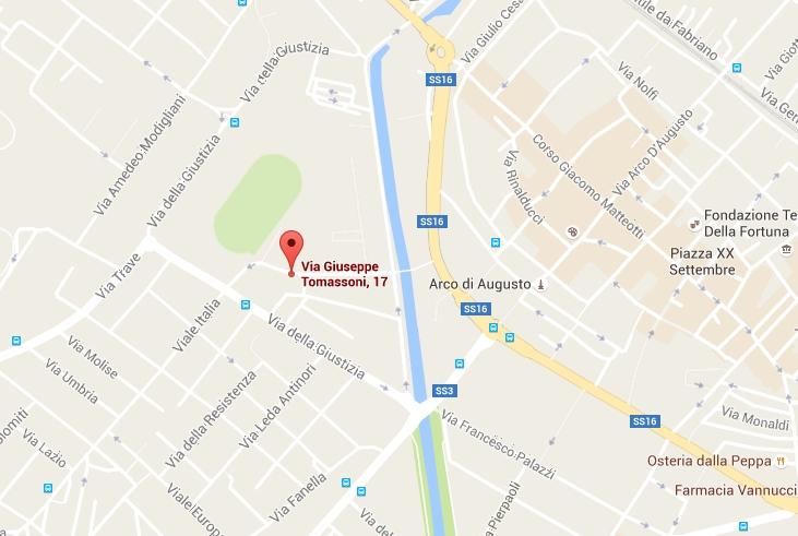 CONTATTI - Cartina stradale - Fisiolab Fano